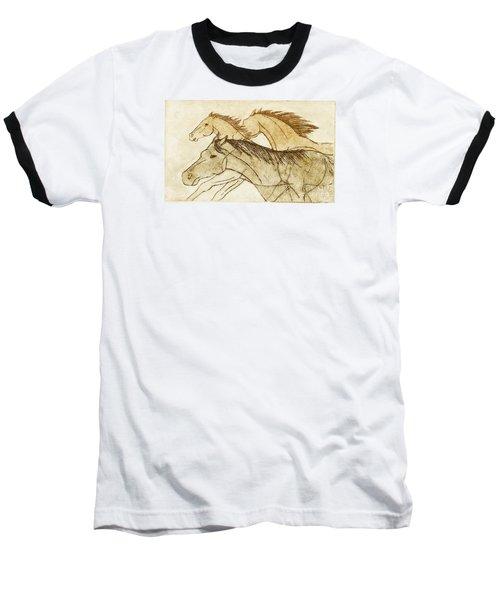 Baseball T-Shirt featuring the drawing Horse Sketch by Nareeta Martin