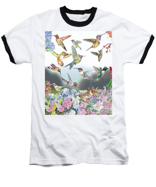 Hummingbirds Galore Baseball T-Shirt