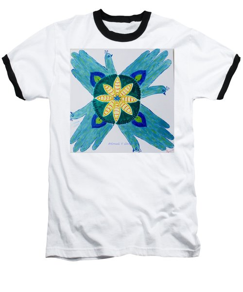 Baseball T-Shirt featuring the painting Impression by Sonali Gangane