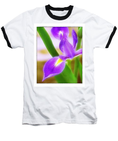Baseball T-Shirt featuring the photograph Iris On Pointe by Judi Bagwell