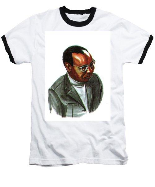 John Mbiti Baseball T-Shirt by Emmanuel Baliyanga
