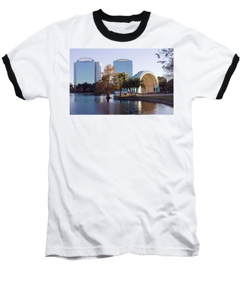 Baseball T-Shirt featuring the photograph Lake Eola's  Classical Revival Amphitheater by Lynn Palmer