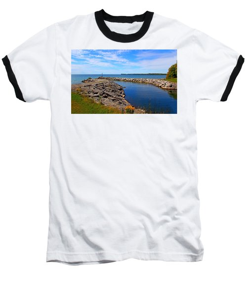 Baseball T-Shirt featuring the photograph Lakeside Bend by Davandra Cribbie
