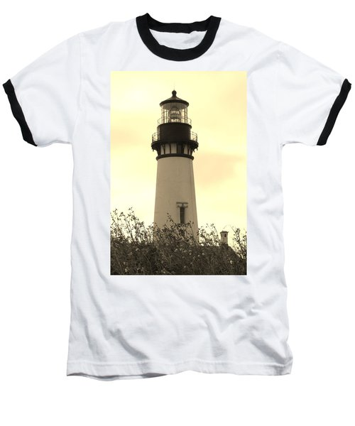 Lighthouse Tranquility Baseball T-Shirt by Athena Mckinzie