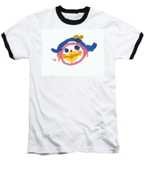 Lipstick Face Baseball T-Shirt