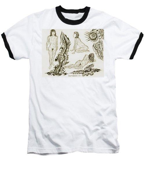 Live Nude 17 Female Baseball T-Shirt