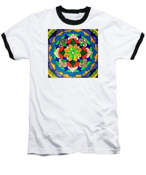 Mandala Circle Of Life Baseball T-Shirt by Sandra Lira