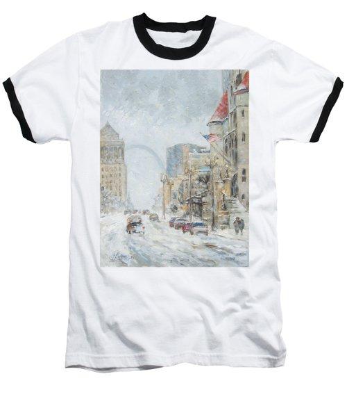 Market Street In Winter In St.louis Baseball T-Shirt