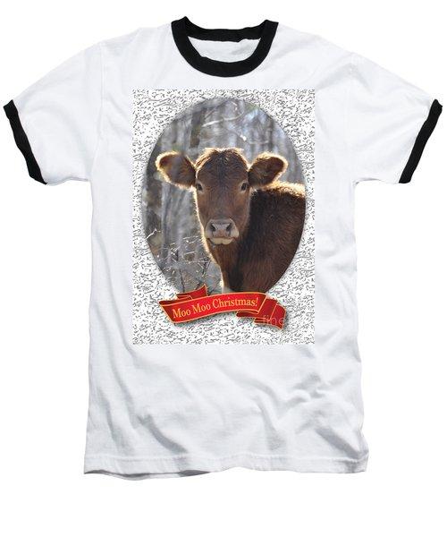 Moo Moo Christmas Baseball T-Shirt