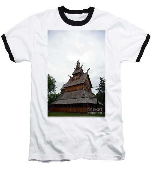 Moorhead Stave Church 26 Baseball T-Shirt
