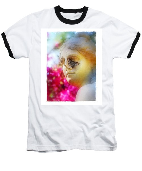 Baseball T-Shirt featuring the photograph Moth On Statue by Judi Bagwell