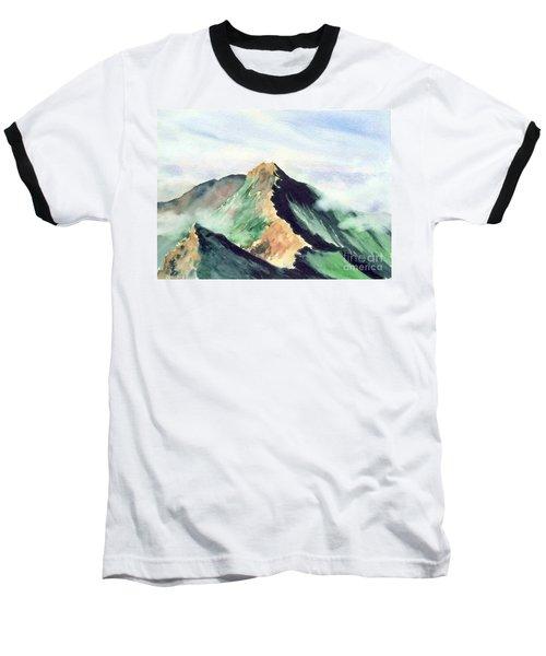 Baseball T-Shirt featuring the painting Mountain  1 by Yoshiko Mishina