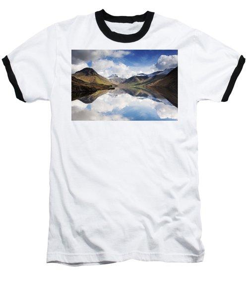 Mountains And Lake, Lake District Baseball T-Shirt