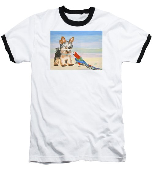 Mouthy Parrot Baseball T-Shirt