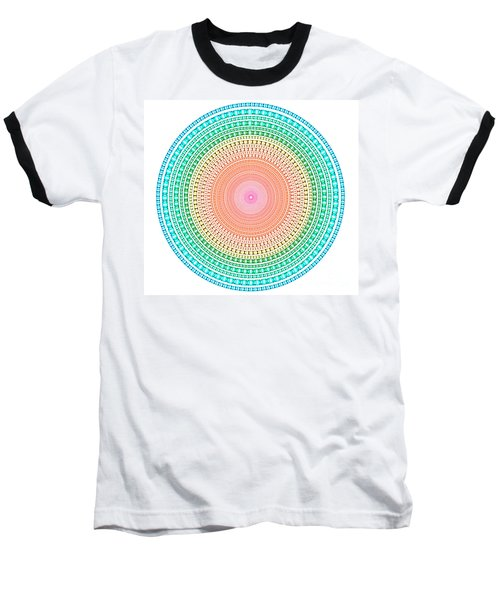 Multicolor Circle Baseball T-Shirt