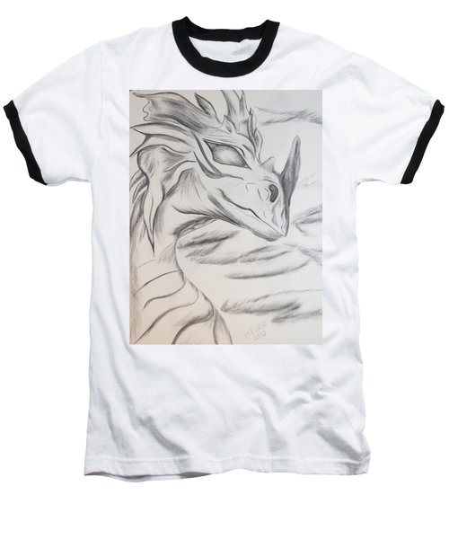 Baseball T-Shirt featuring the drawing My Dragon by Maria Urso