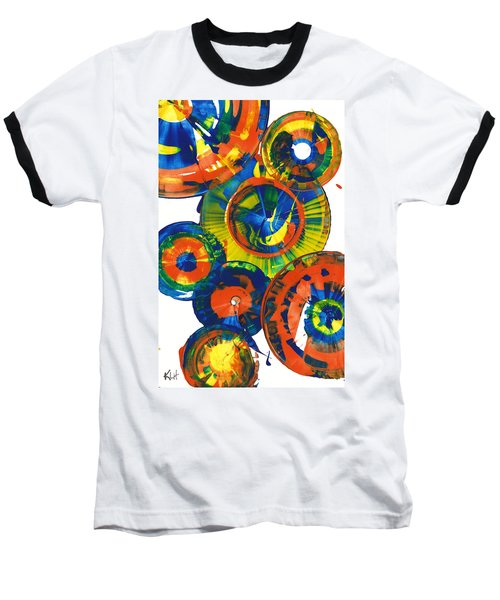 Baseball T-Shirt featuring the painting My Magical Spheres    859.121811 by Kris Haas