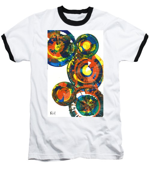 Baseball T-Shirt featuring the painting My Spheres Show Happiness  864.121811 by Kris Haas