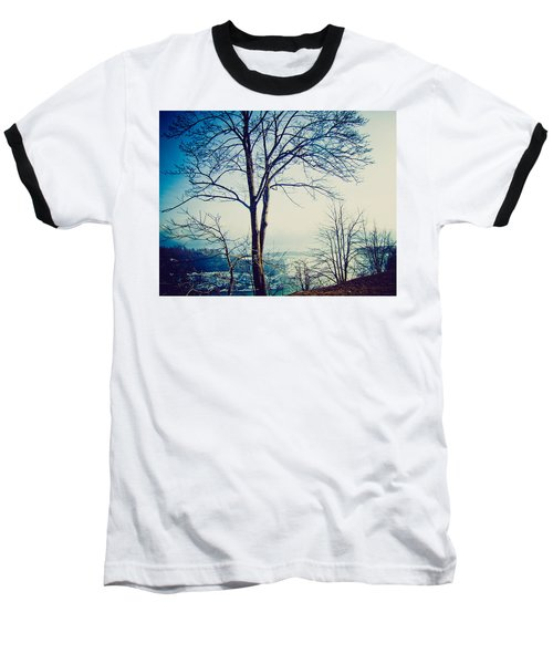 Baseball T-Shirt featuring the photograph Mystic Blue by Sara Frank