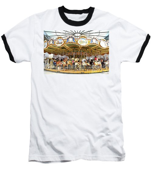 Baseball T-Shirt featuring the photograph New York Carousel by Alice Gipson