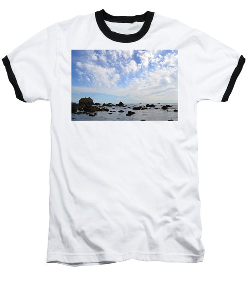 Northern California Coast1 Baseball T-Shirt by Zawhaus Photography