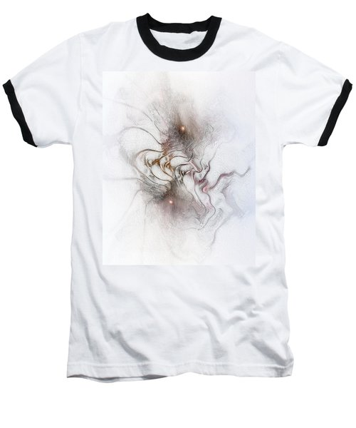 Baseball T-Shirt featuring the digital art Nuanced by Casey Kotas