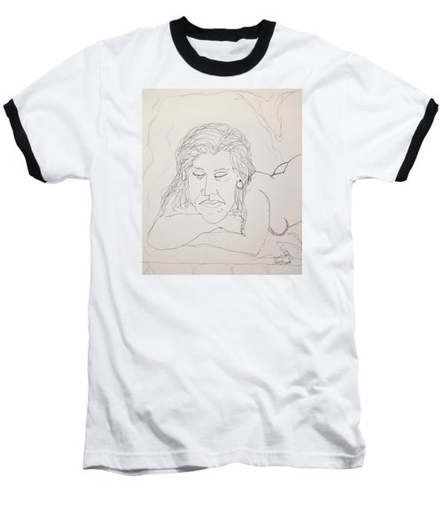 Nude Contour In Ink Baseball T-Shirt