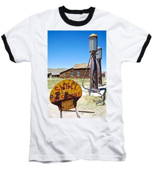 Old Gas Pumps Baseball T-Shirt