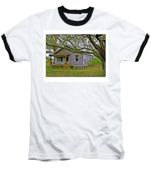 Baseball T-Shirt featuring the photograph Old Gray House by Judi Bagwell