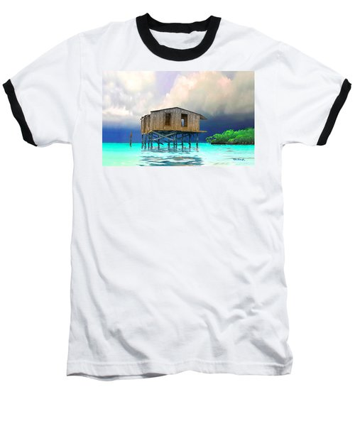 Old House Near The Storm Filtered Baseball T-Shirt