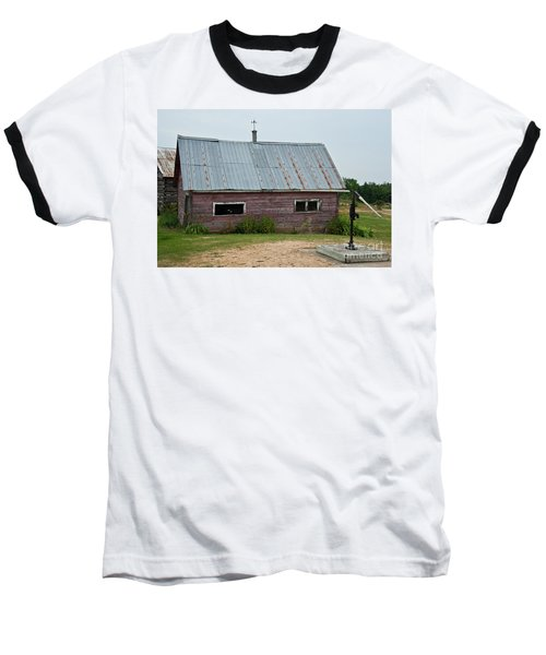 Baseball T-Shirt featuring the photograph Old Wood Shed  by Barbara McMahon