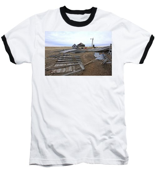 Baseball T-Shirt featuring the photograph Once There Was A Farm by James Steele