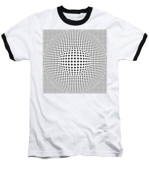 Optical Illusion Ball In Ball Baseball T-Shirt