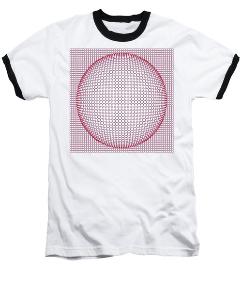 Optical Illusion Blue And Red Baseball T-Shirt