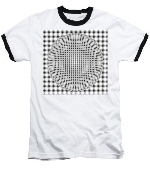 Optical Illusion Plastic Ball Baseball T-Shirt