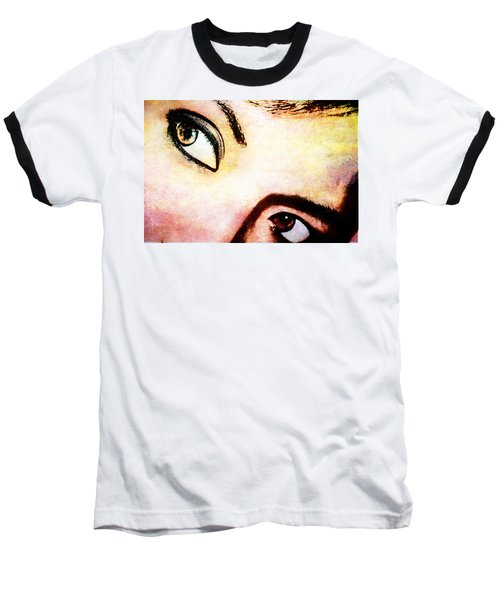 Baseball T-Shirt featuring the photograph Passionate Eyes by Ester  Rogers