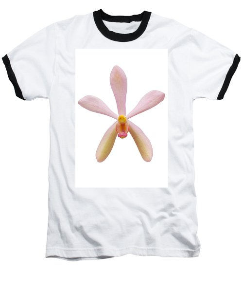 Pink Orchid Head Baseball T-Shirt by Atiketta Sangasaeng