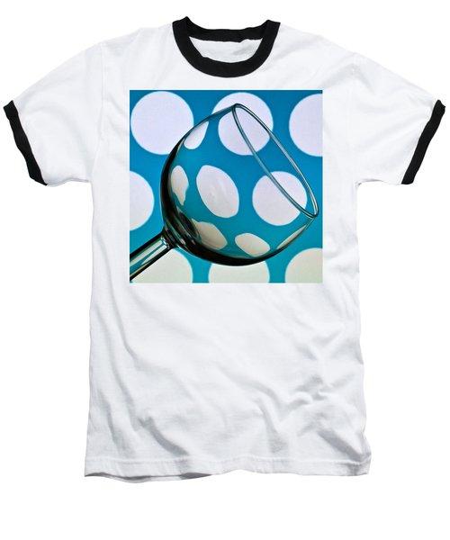 Baseball T-Shirt featuring the photograph Polka Dot Glass by Steve Purnell