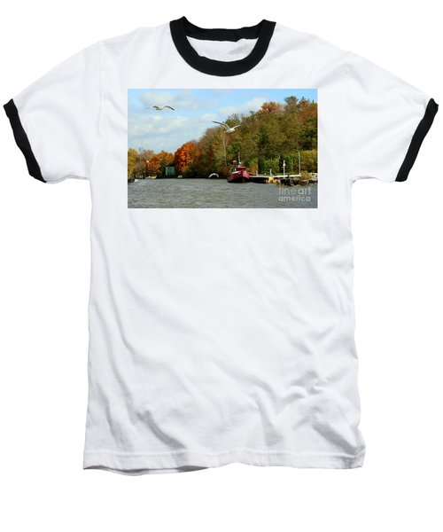 Baseball T-Shirt featuring the photograph Port Dover Harbour by Barbara McMahon