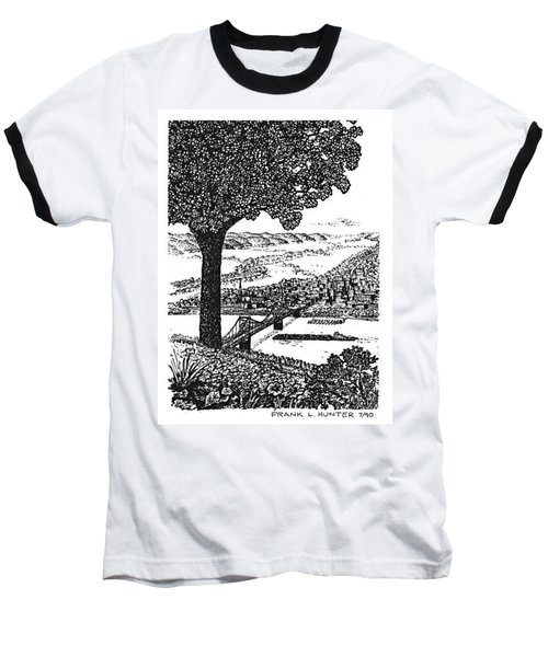 Portsmouth Ohio From A Kentucky Hill Baseball T-Shirt by Frank Hunter
