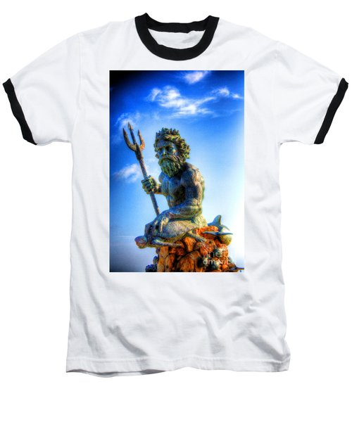 Poseidon Baseball T-Shirt by Dan Stone