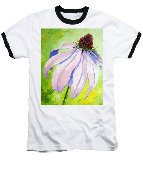 Purple Coneflower Baseball T-Shirt