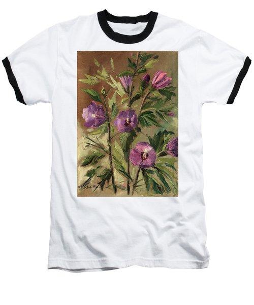 Purple Flowers 2 Baseball T-Shirt