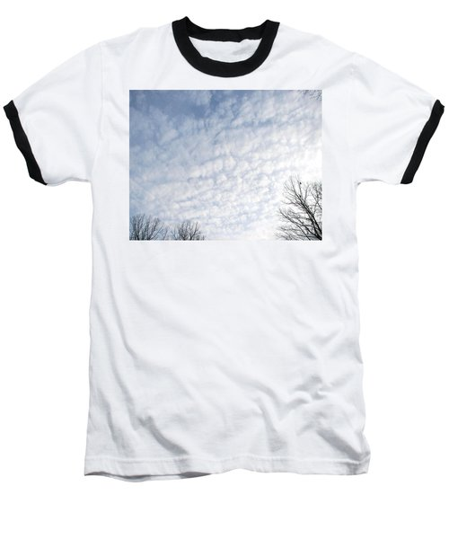 Baseball T-Shirt featuring the photograph Reaching The Clouds by Pamela Hyde Wilson