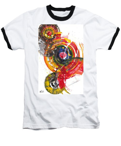 Baseball T-Shirt featuring the painting Red And Blue's Gold  837.120811 by Kris Haas