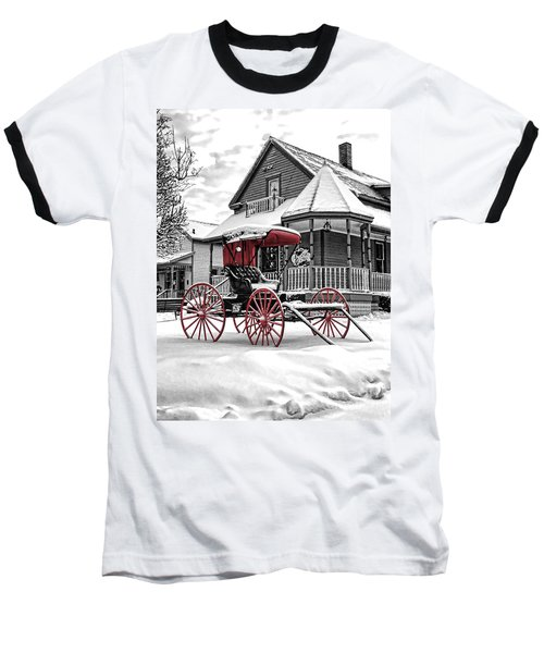 Red Buggy At Olmsted Falls - 2 Baseball T-Shirt