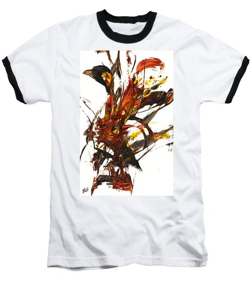 Baseball T-Shirt featuring the painting Red Flame II 65.121410 by Kris Haas