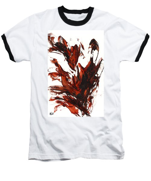 Baseball T-Shirt featuring the painting Red Flame IIi 64.121410 by Kris Haas