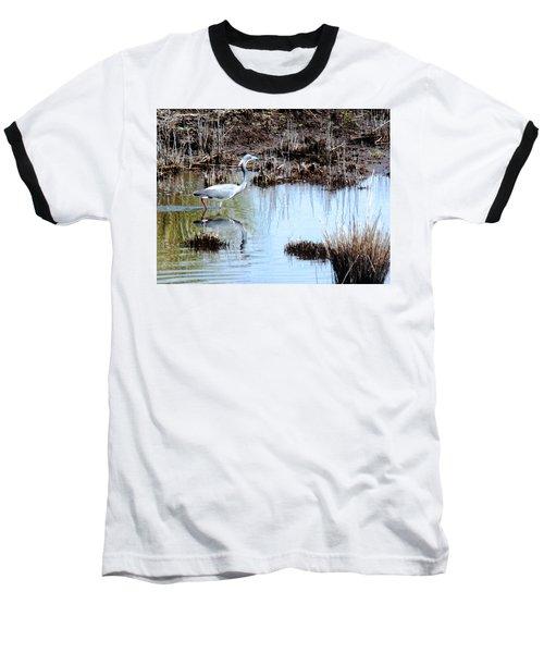 Reflections Of A Blue Heron Baseball T-Shirt