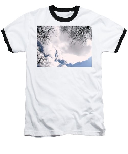 Baseball T-Shirt featuring the photograph River In The Sky by Pamela Hyde Wilson